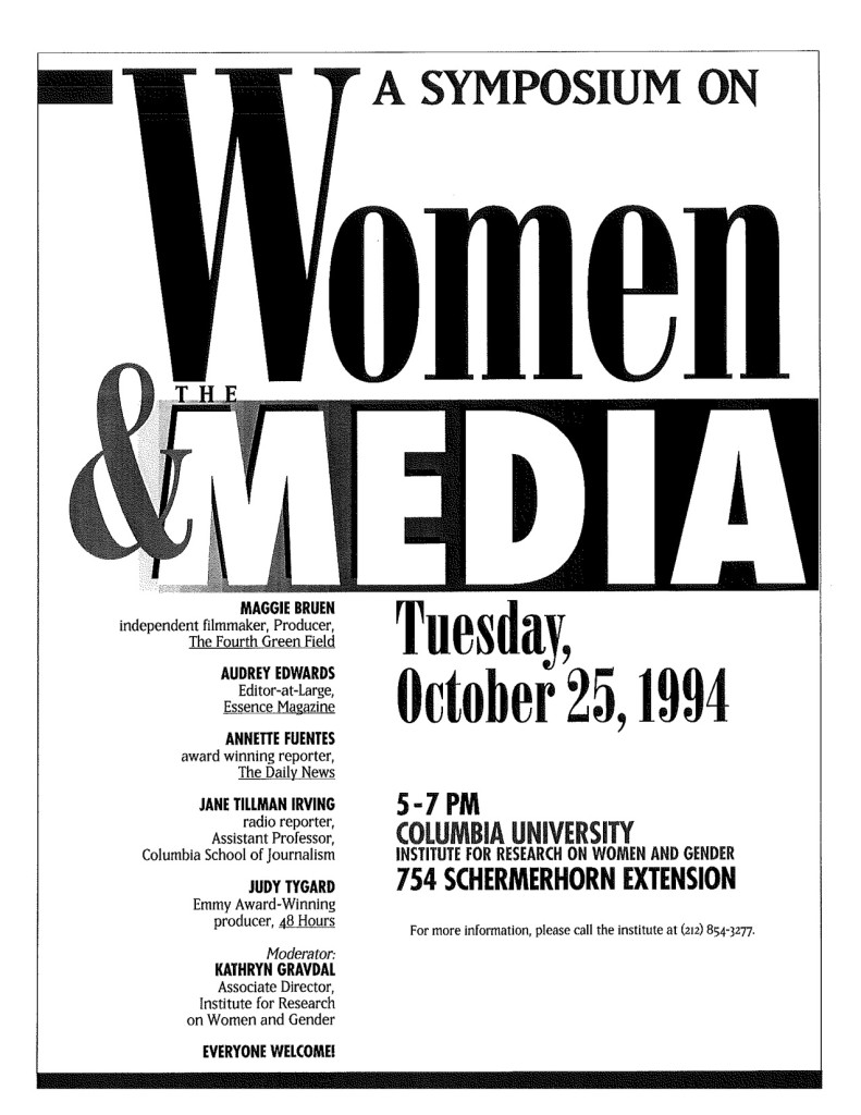 1994 Women and the Media