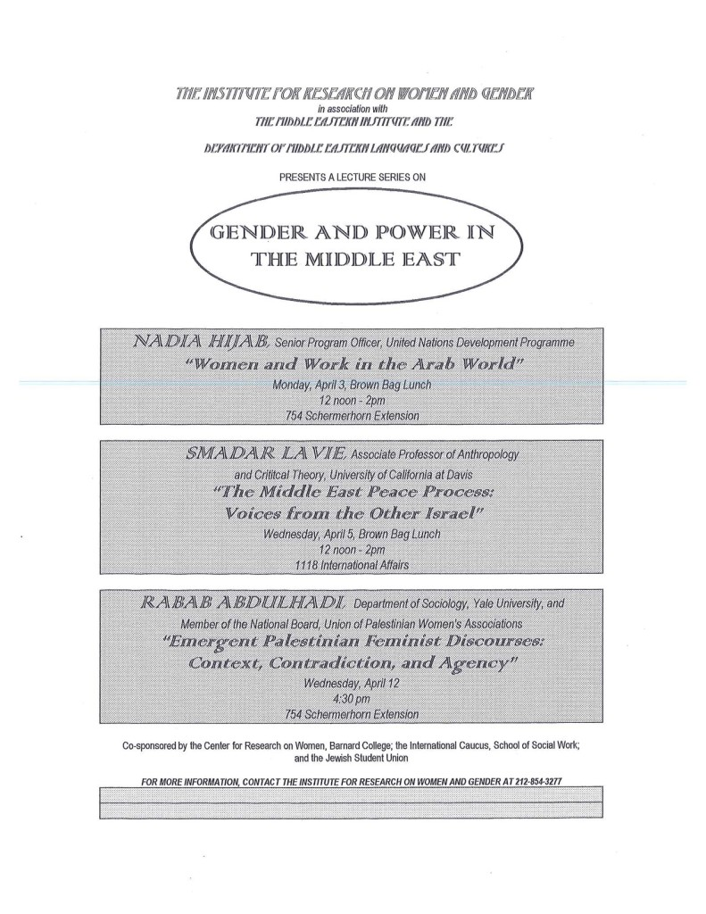 1995 Gender and Power in the Middle East