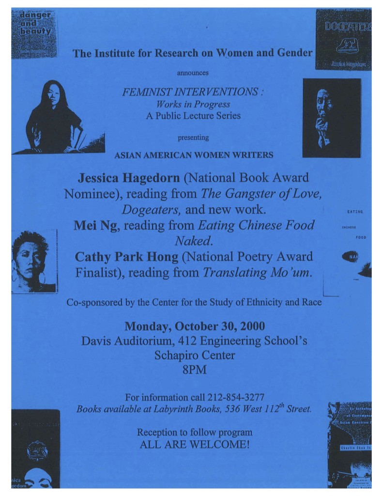 2000 Feminist Interventions Asian American Women Writers (CSER)