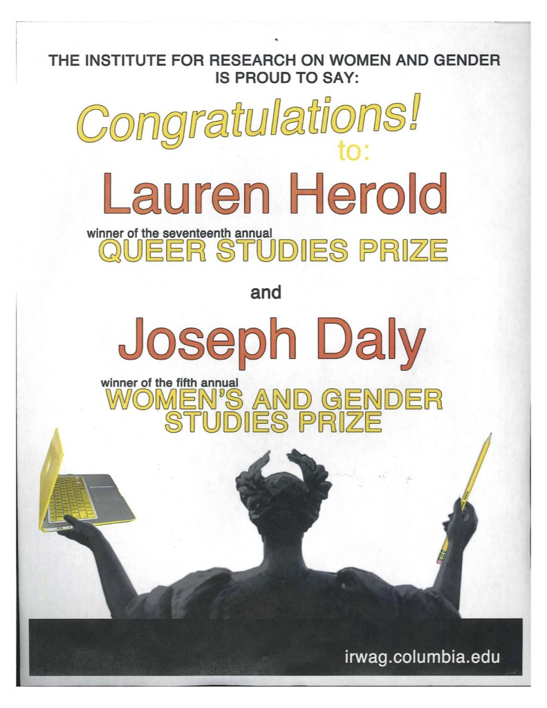 2011-2012 Queer Women's and Gender Studies Prize