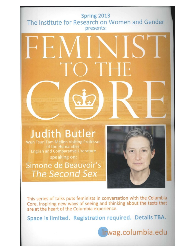 2013 Feminist to the Core Butler